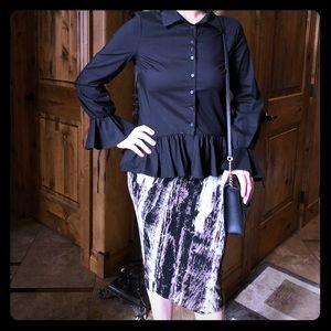 Midi stretch pencil skirt. Sz. Small